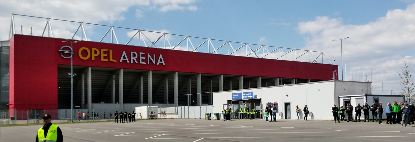 Rautenexpress Tour nach Mainz, 29.4.2017 Opel Arena