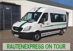 Das ist unser privater Rautenexpress Bus