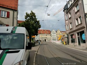 Rautenexpress Bus am Cafe Milchberg