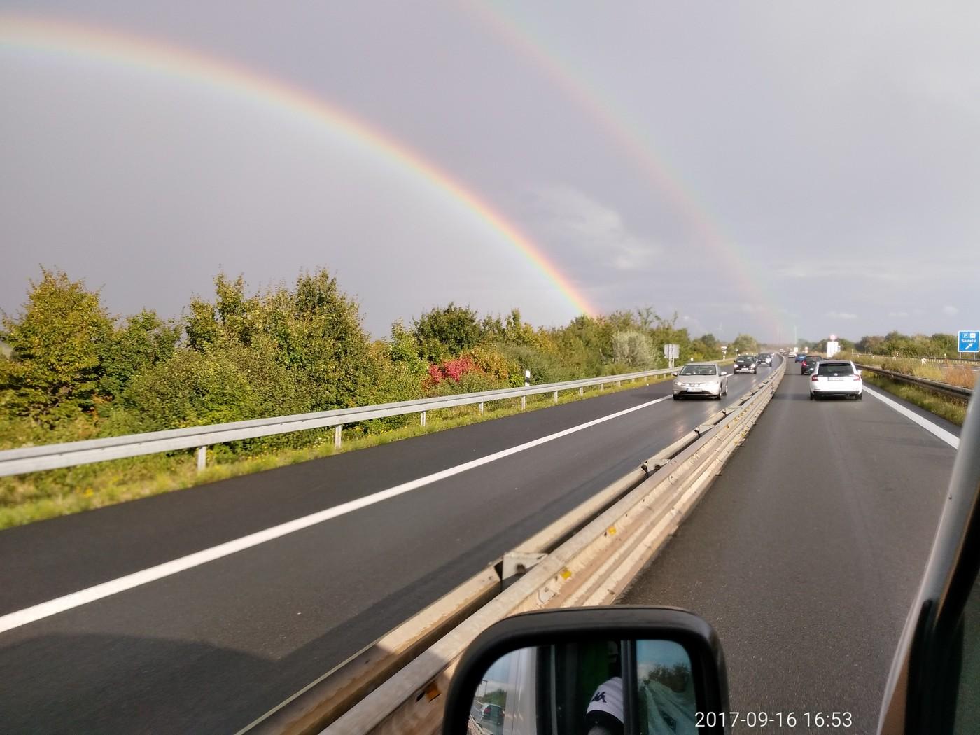 Regenbogen auf der Leipzig Tour