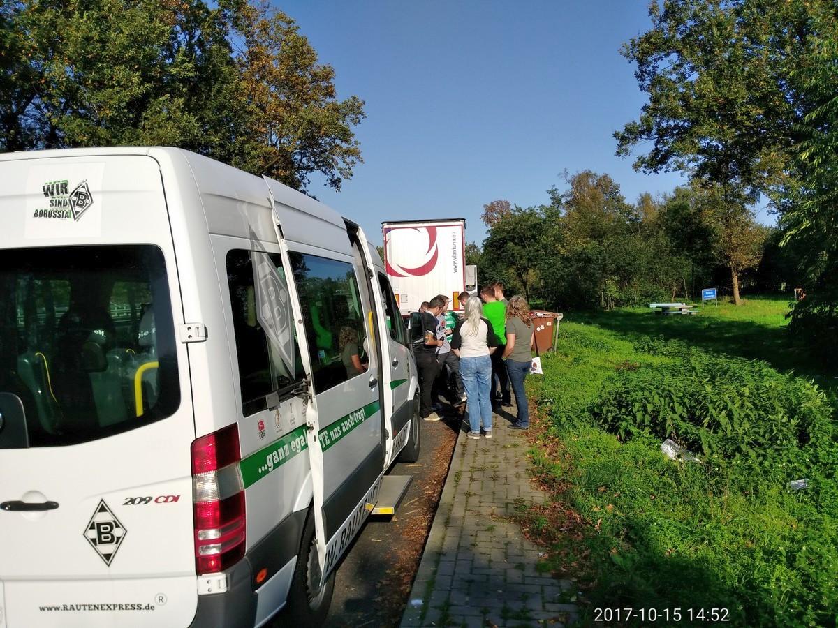 Pause auf der Tour nach Bremen