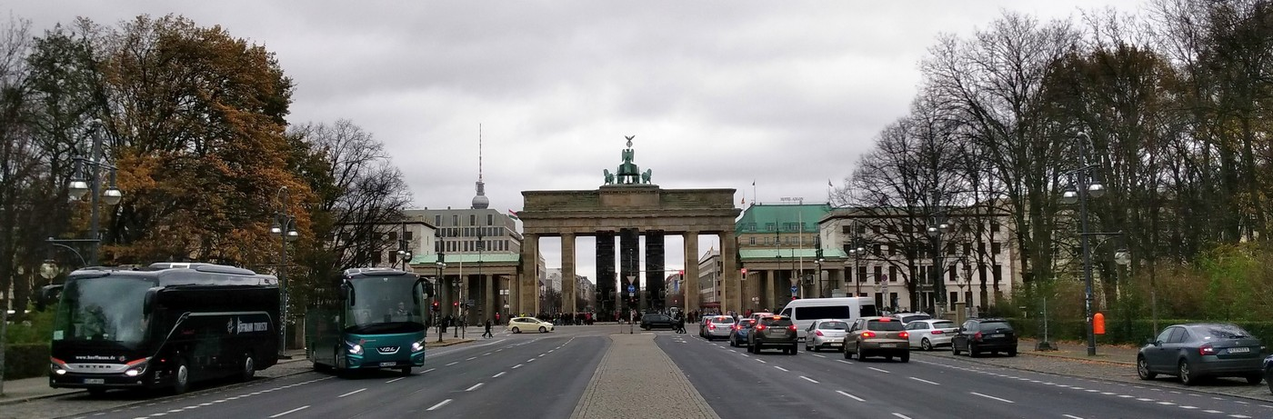 Fahrt zum Brandenburger Tor