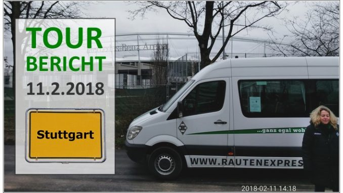 Rautenexpress Tour nach Stuttgart, am 11.2.2018