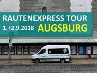 Augsburg 2018 Tour mit dem Rautenexpress